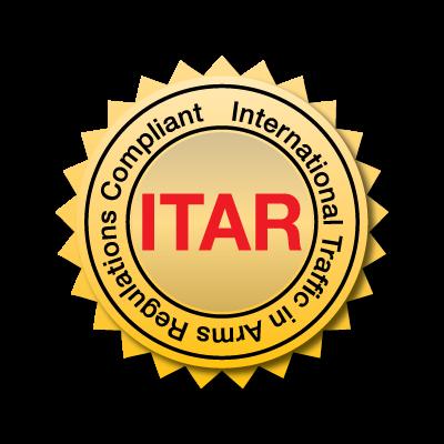 International Traffic in Arms Regulations Compliant Medallion